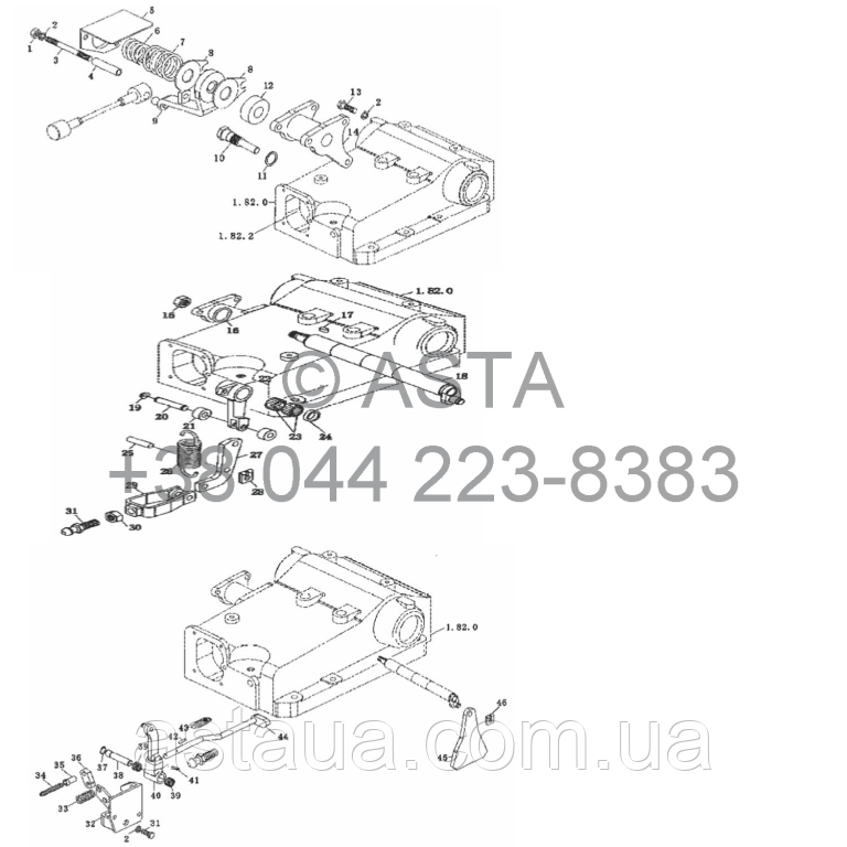 Распределитель управления на YTO X904
