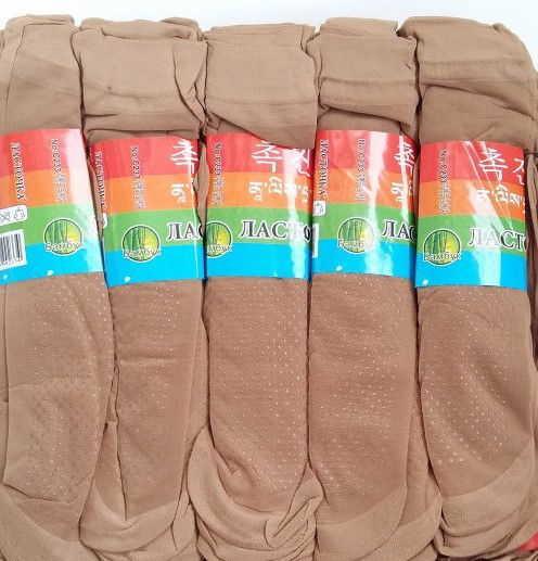 Носки капроновые с тормозами Ласточка бежевые №8