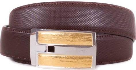Мужской кожаный ремень ETERNO (ЭТЭРНО) E355709 коричневый