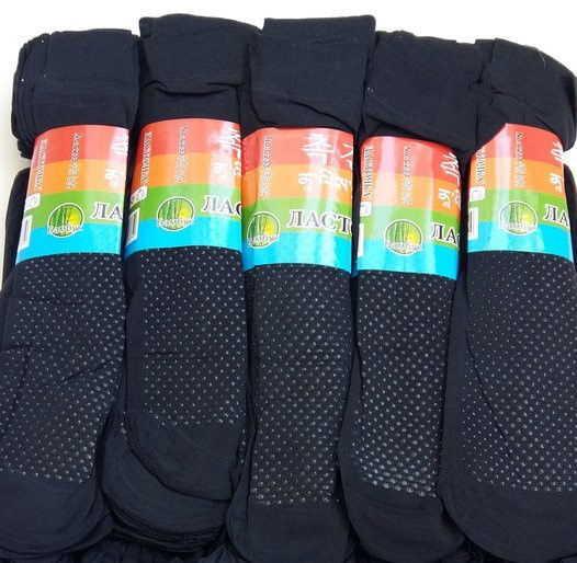 Носки капроновые с тормозами Ласточка чёрные