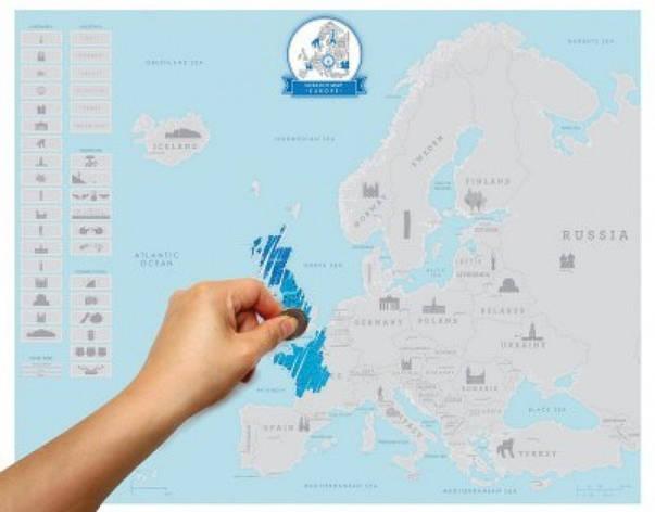 Скретч карта Европы , фото 2