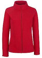 Женская флисовая кофта  Красная Fruit Of The Loom 62-066-40 XL