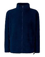 Мужской тёплый флис на молнии Глубоко Тёмно-Синий Full Zip Fleece 62-510-AZ S, фото 1