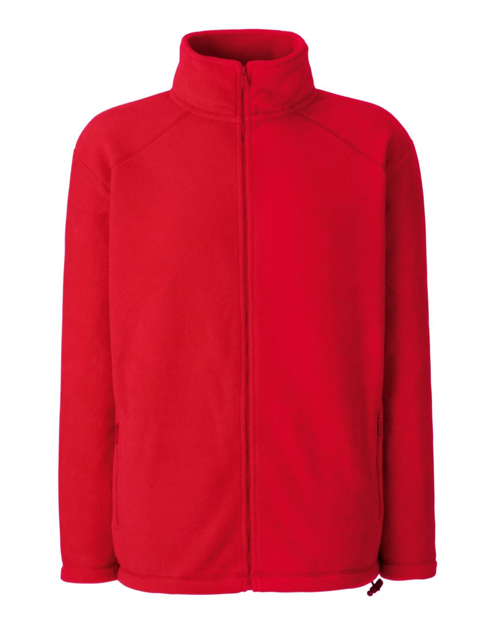 Мужской тёплый флис на молнии Красный Full Zip Fleece 62-510-40 XL