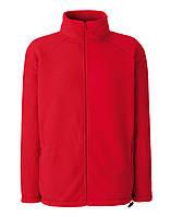 Мужской тёплый флис на молнии Красный Full Zip Fleece 62-510-40 XL, фото 1