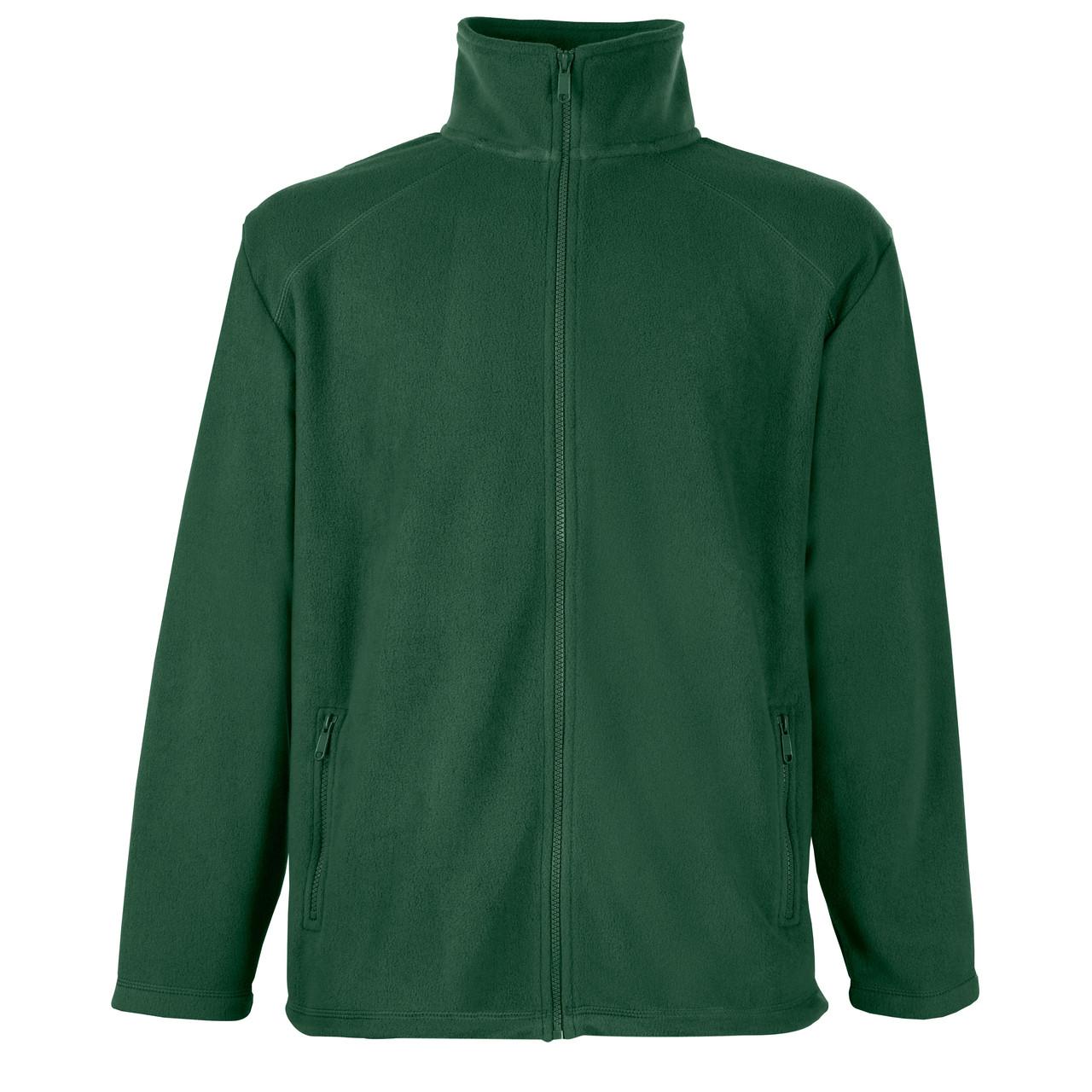 Мужской тёплый флис на молнии Тёмно-Зелёный Full Zip Fleece 62-510-38 XXL