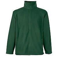 Мужской тёплый флис на молнии Тёмно-Зелёный Full Zip Fleece 62-510-38 XXL, фото 1