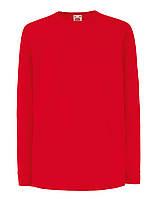 Детская Футболка С Длинным Рукавом Красная Fruit of the loom 61-007-40 7-8