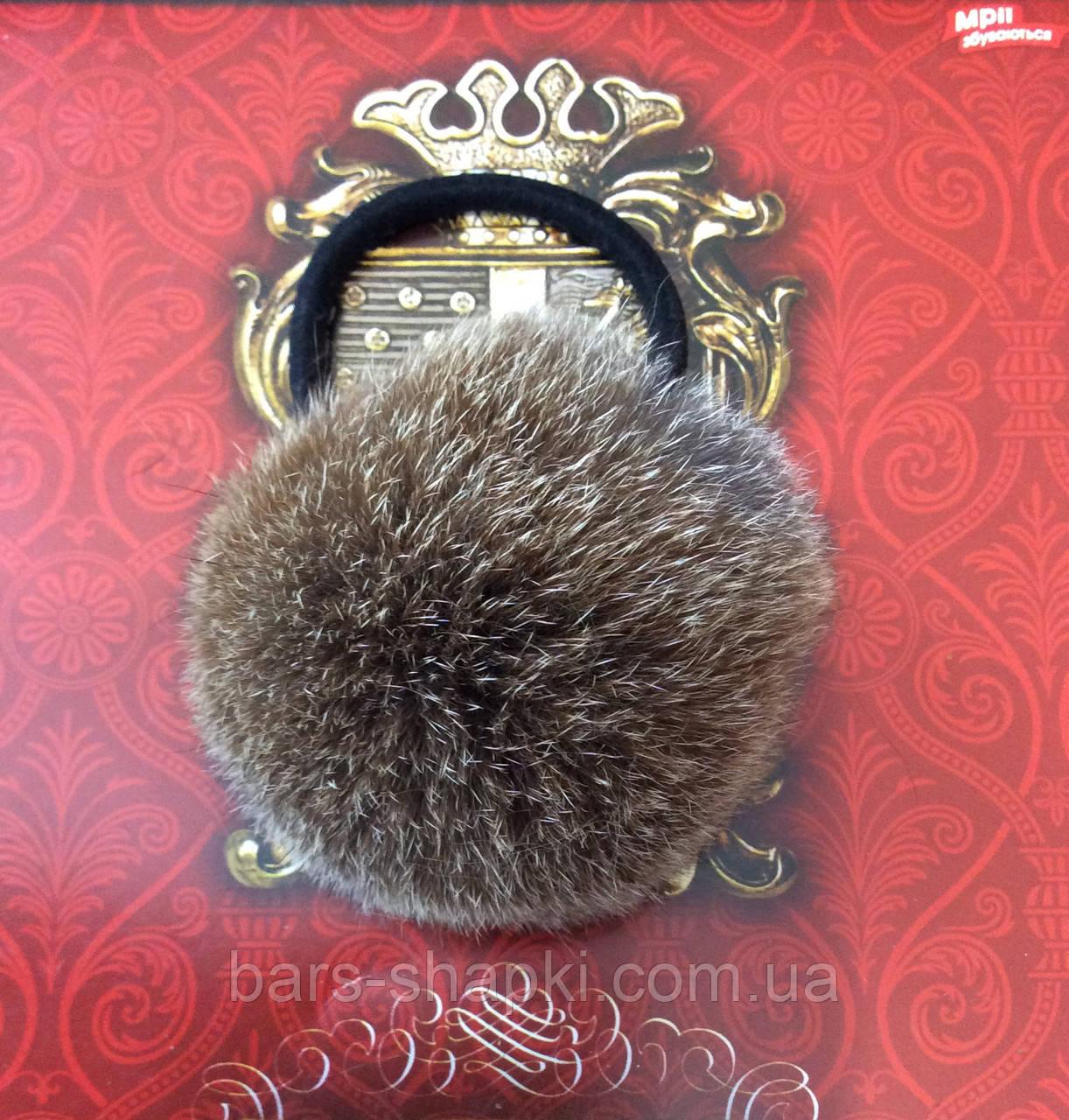 Меховая резиночка для волос