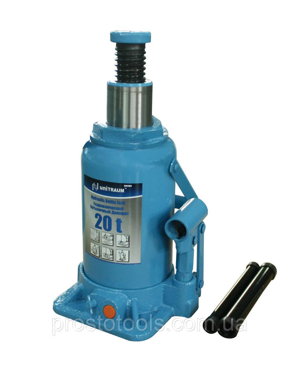 Домкрат бутылочный гидравлический 20т Unitraum  UN92004