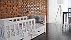 Подростковая детская кровать Ассоль с бортиком белая, фото 4