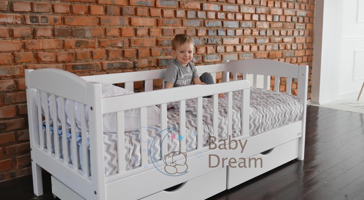 Подростковая детская кровать Ассоль с бортиком белая