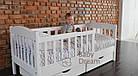 Подростковая кровать Ассоль с бортиком 70*160 ваниль, фото 4