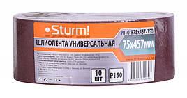 Шлифовальная лента, Шлифлента (75х457мм, Р150, 10шт) Sturm 9010-B75x457-150
