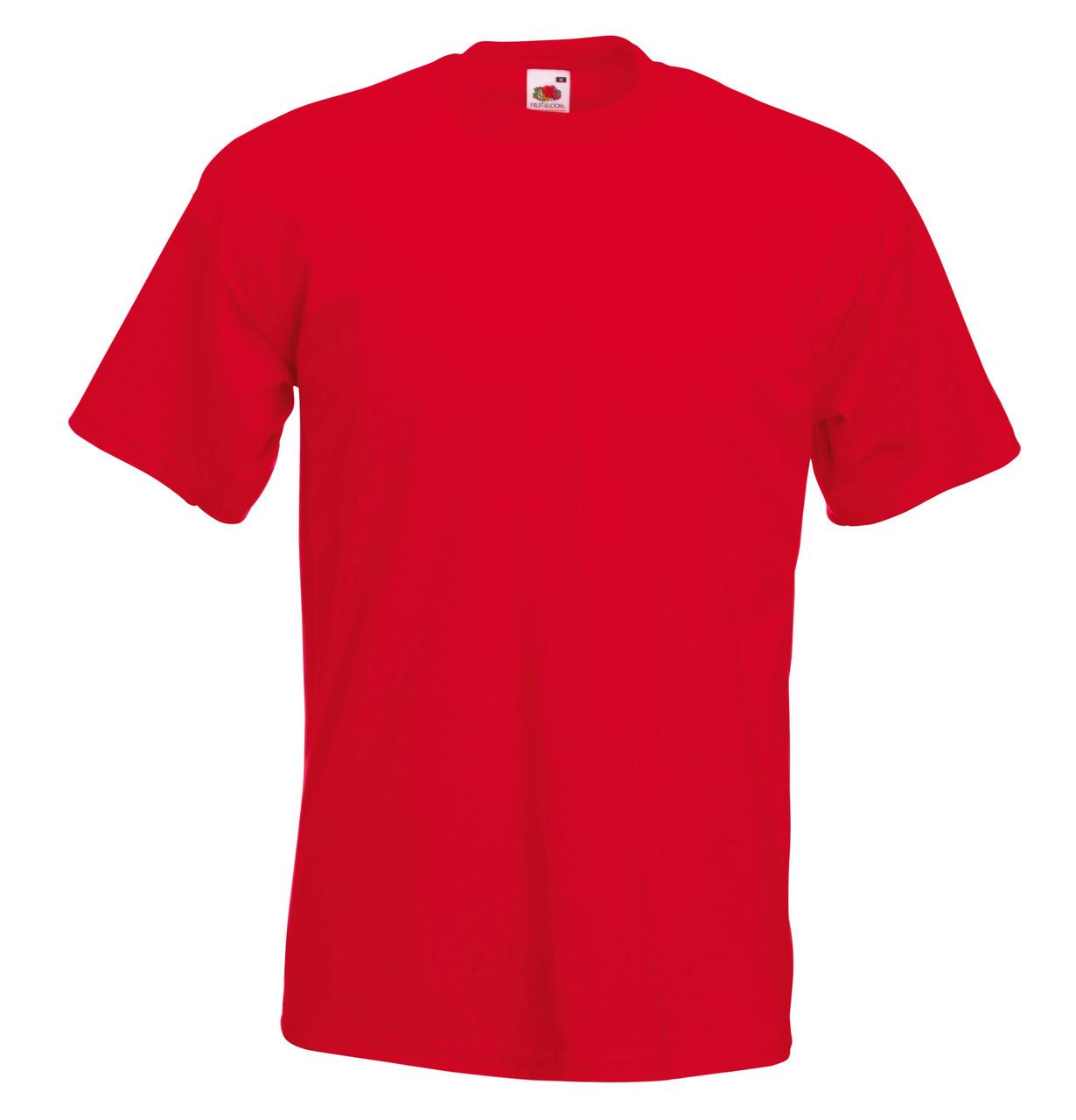 Мужская Футболка Супер премиум Красная Fruit of the loom 61-044-40 XXL