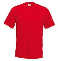 Мужская Футболка Супер премиум Красная Fruit of the loom 61-044-40 L