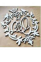 Декор для свадьбы  в виде букв имен молодоженов