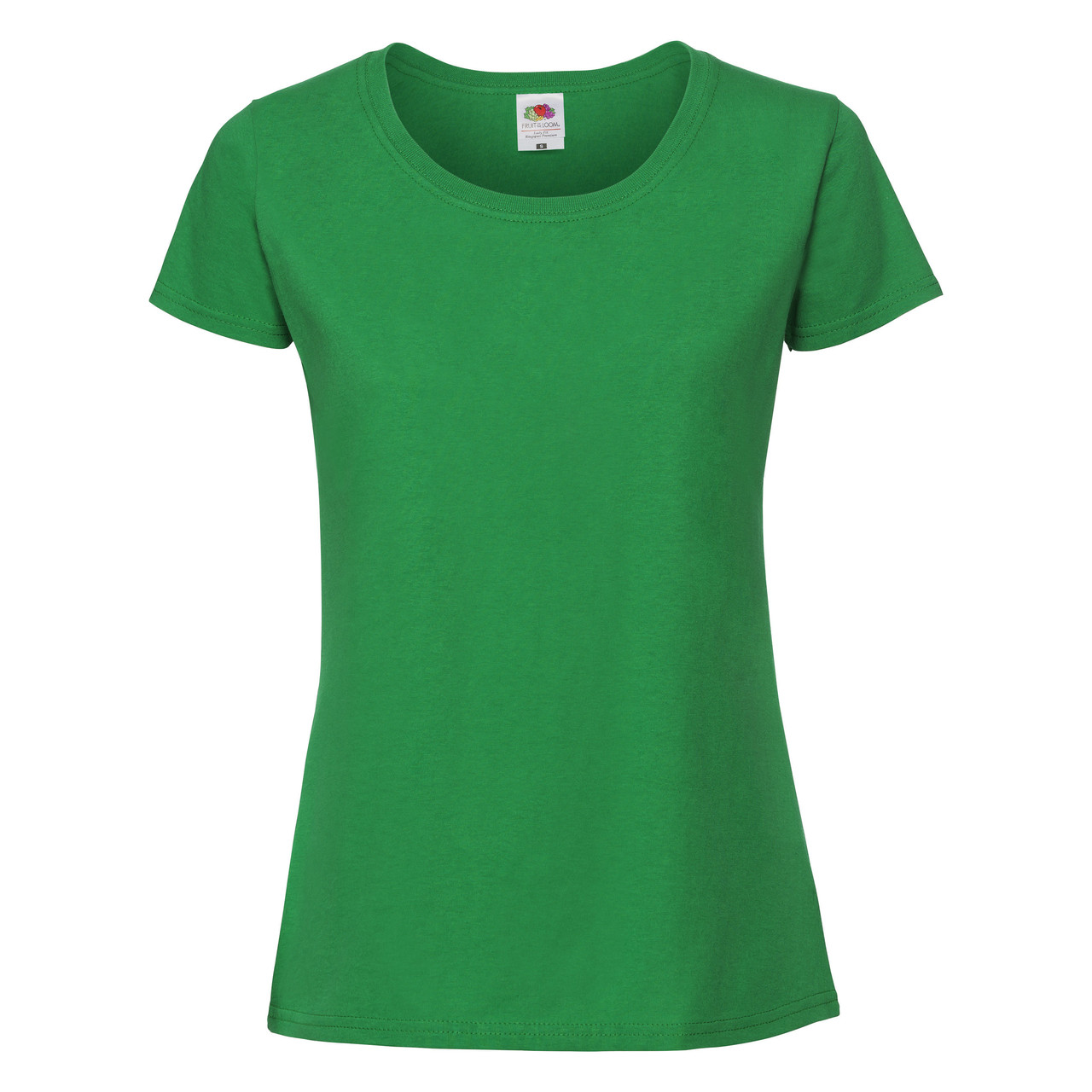 Женская Футболка Премиум  Ярко-зелёная  Fruit of the loom 61-424-47 L