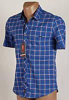 Рубашка мужская клетка Arma 1600 Размеры M/46