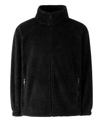 Детский тёплый флис на молнии Чёрный Full Zip Fleece Kids  62-511-36 7-8, фото 2