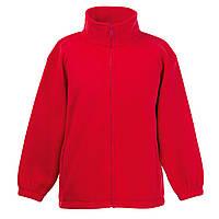 Детский тёплый флис на молнии Красный Full Zip Fleece Kids  62-511-40 5-6
