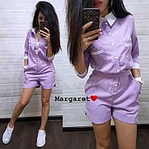 Стильный комбинезончик с шортами, размеры с м, фото 2