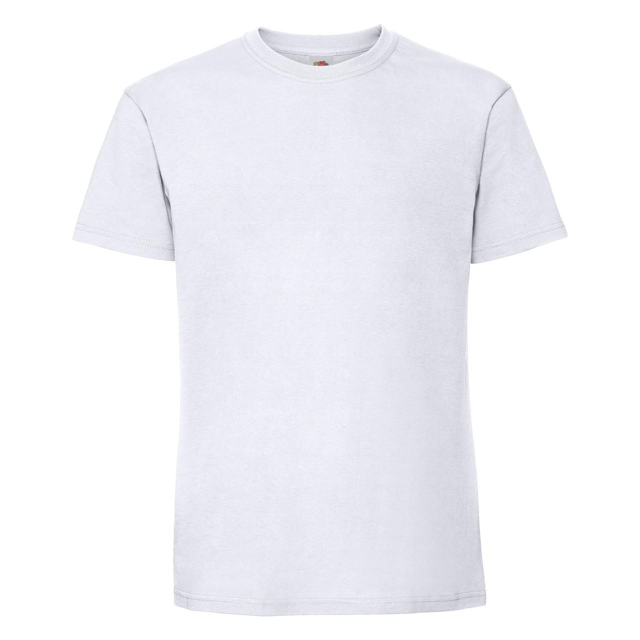 Мужская футболка плотная мягкая Белая Fruit of the loom 61-422-30 4XL