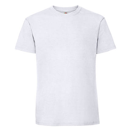 Мужская футболка плотная мягкая Белая Fruit of the loom 61-422-30 4XL, фото 2