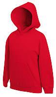 Детская премиум толстовка с капюшоном Красная Fruit Of The Loom 62-037-40  5-6