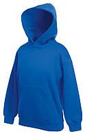 Детская премиум толстовка с капюшоном Ярко-синяя Fruit Of The Loom 62-037-51  5-6