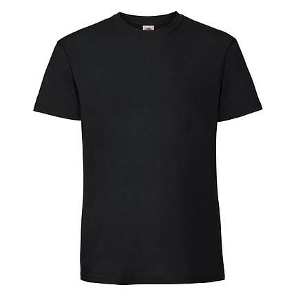Мужская футболка плотная мягкая Чёрная Fruit of the loom 61-422-36 S, фото 2