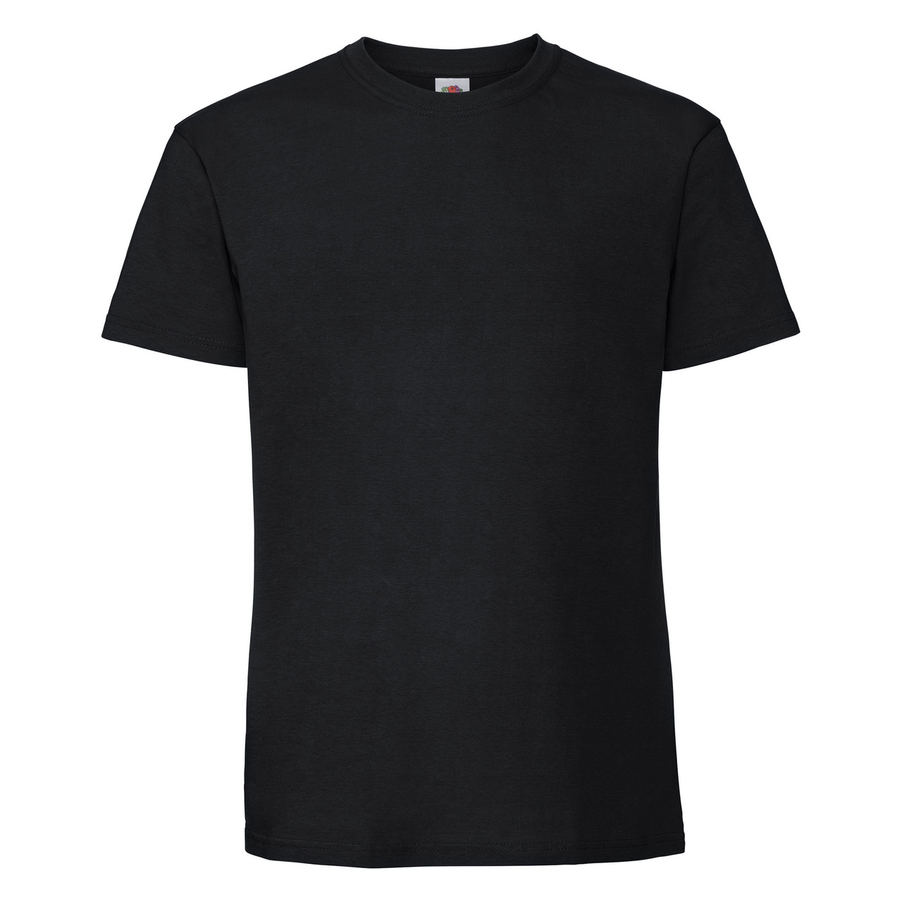 Мужская футболка плотная мягкая Чёрная Fruit of the loom 61-422-36 4XL