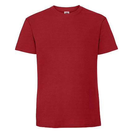 Мужская футболка плотная мягкая Красная Fruit of the loom 61-422-40 XXL, фото 2