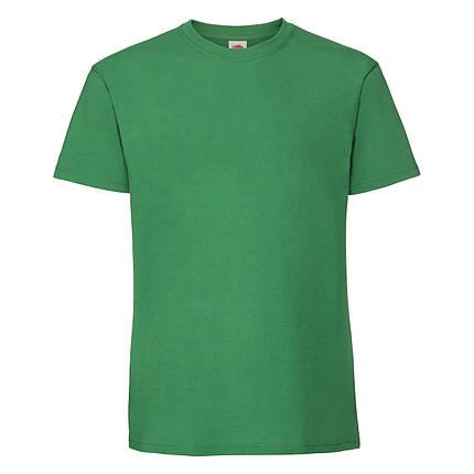 Мужская футболка плотная мягкая Ярко-зелёная Fruit of the loom 61-422-47 5XL, фото 2