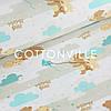 Хлопковая ткань Мишки облачка