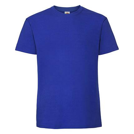 Мужская футболка плотная мягкая Ярко-синяя Fruit of the loom 61-422-51 5XL, фото 2