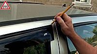 Установка дефлекторов окон (установка ветровиков)