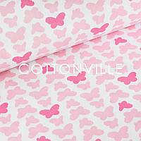 ✁ Отрезы польской бязи Бабочки розовые, фото 1