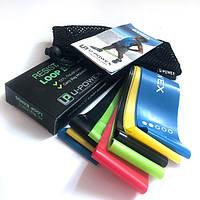 Резинки для фитнеса петли Фирменный набор U-Powex 5 шт + сумка