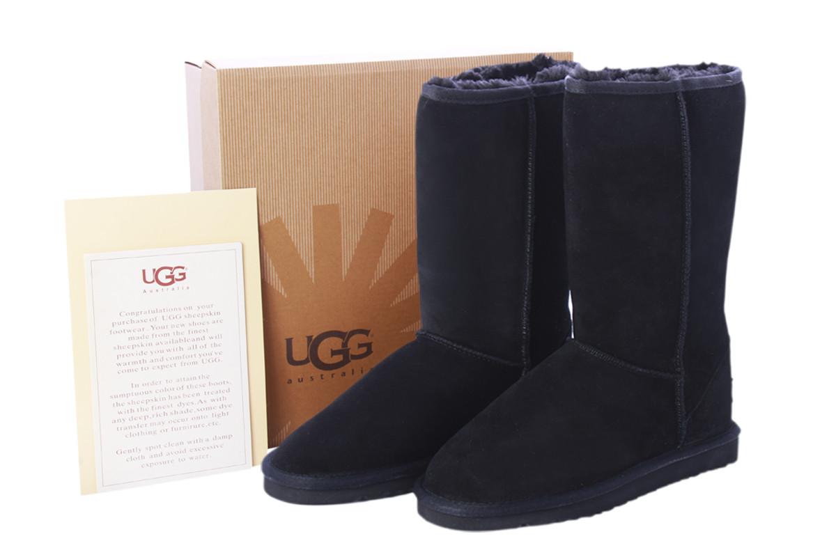 Угги UGG Classic Tall Черные высокие