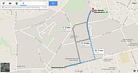 Карта с адресом офис-склада