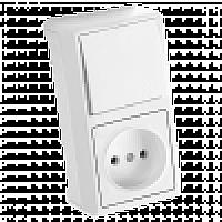 Вертикальный блок Выключатель + Розетка VIKO (90681086)
