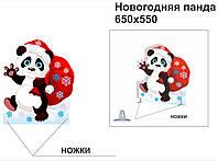 """Декорация """"Новогодняя панда"""""""