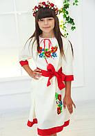 Вишите плаття Маки хрестиком (3-11років), фото 1