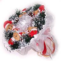 Букет из мягких игрушек Новогодний Мишки 5 белый, фото 1