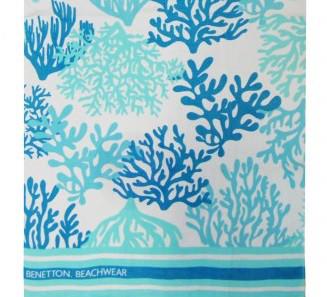 Полотенце Пляжное Велюровое 90х170 Морские Кораллы
