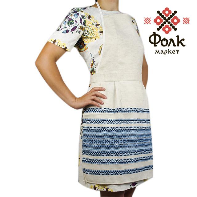 Фартук для кухни голубой