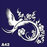 Трафарет для временного тату № А42