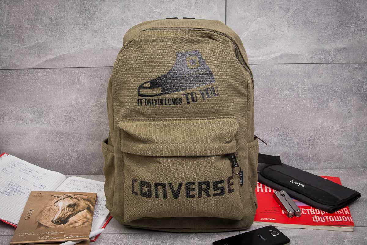 Рюкзак унисекс Converse, хаки (90013),  [   1  ]