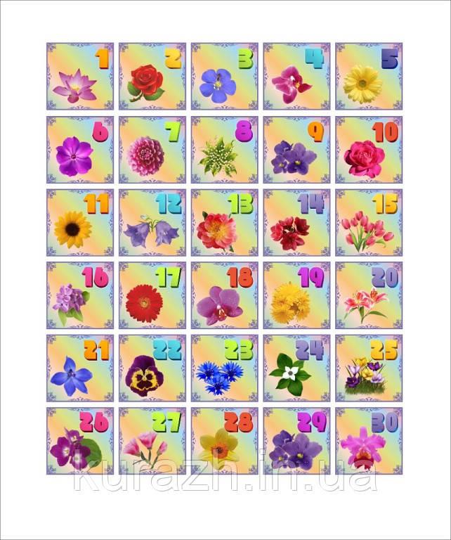 Набір наклейок на шафу «Квіти»